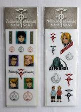 FMA FullMetal Alchemist 2 Mini Sticker Seal Sheets Set MOVIC Edward Roy Alphonse