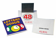 50 Set di lotteria bonus BALL CARDS NUOVE 1-59 con codice seriale UK STOCK