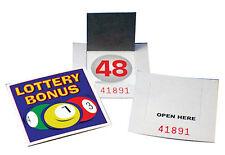 10 sets of lottery bonus ball cards NEW 1-59 Serial CODE UK Stock