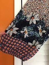 Small New FIG and FLOWER ANTHROPOLOGIE TUNIC BOHO PEASANT TOP BLOUSE FLORAL