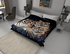 Solaron Blanket throw Thick Ultra Fine Polyester Mink Plush Tiger Heavy Weight