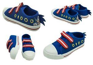 Boys Kids Sonic The Hedgehog Canvas Pumps Size 7 8 9 10 11 12 13 1 2 3 Inf / Jun
