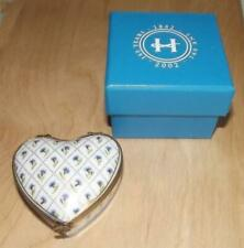 Vintage Haviland Limoges France Heart Shaped Hinged Trinket Box Gold Trim ~ Nib