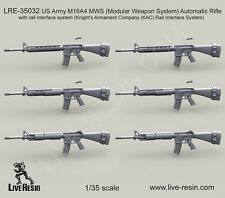 Live Resin 1/35 LRE-35032 US Army M16A4 Modular Weapon System Automatic Rifle