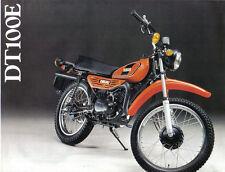 Yamaha DT100E Sales Brochure, 1978 Original NOS