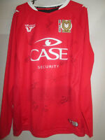 MK Dons 2012-2013 Squad Signed Away Football Shirt with COA /14924