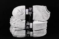 9-11 10-13 Athletic No Show Low Cut Ankle Socks Cotton Gym Hiking Gray Men Women