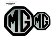 MG ZR LE500 MK2 Front & Rear Insert Badge Logo Set 59mm/95mm Black/Chrome Badges