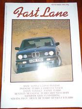 Fast Lane Sep 1984 Alpina 3.5 B9, Porsche 911 Turbo vs Countach vs Esprit Turbo