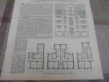 1911 Baugewerkszeitung 38  / Treppenhaus / Badeofen Houben aus Aachen