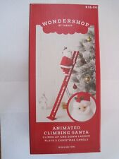 "Animated Climbing Santa Up & Down Ladder Plays Carols Nib Target 18"" Nib"