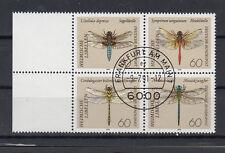 BRD Briefmarken 1991 Libellen Mi.Nr.1546-59 Viererblock Rand