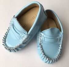 0f825123f6aa TRUMPETTE 3 Baby Infant Blue Moccasins Slip On Loafer Shoe Unisex Patent  Leather