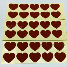 Scratch Off Sticker 120PCS Red Heart-shaped For Code Cover Password Sticker
