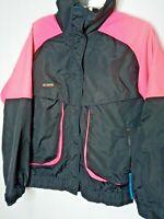 Columbia Radial Sleeve Powder Keg Womens L Jacket Ski Coat Lined Black & Pink