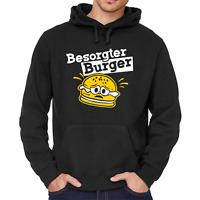 Besorgter Burger Bürger Hamburger Cartoon Comedy Spaß Fun Kapuzenpullover Hoodie