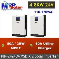 4800w Solar Inverter 110vac 24v 80A MPPT solar charger battery charger 60a