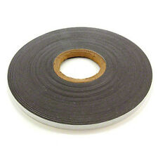 FerroFlex 12.5mm Wide Ferrous Strip, 3M Adhesive & Gloss White (5M Length)