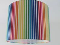 NEW Handmade Candy Multi Coloured Rainbow Stripe Stripey Lampshade Lightshade