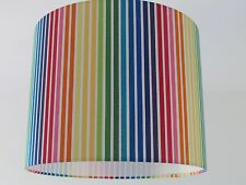Candy Multi Coloured Rainbow Stripe Stripey Lampshade Ceiling Light shade