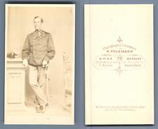 Volkmann, officier à identifier vintage carte de visite, CDV  Tirage albuminé