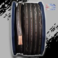 0 Gauge BLACK  Power Ground OFC Wire Strand Copper FLAT Marine Cable 1/0 AWG GA