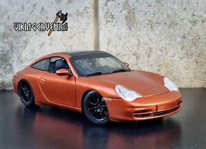 Stunning Modified 1:18 Maisto Porsche 911 996 Targa Model Car, Burnt Orange 1/18