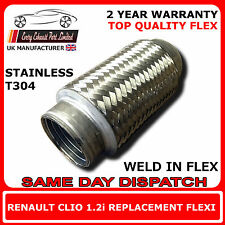 Renault Clio 1.2i 1998-2005 Weld In Replacement Repair Flex Flexi For Cat Pipe