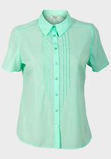 EX Roman Smart Light Crepe Pleated Mint Short sleeved Shirt Top - Size 16 18 NEW