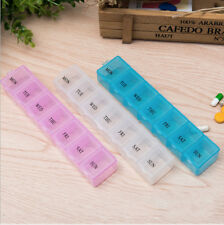 Weekly Pill Box Daily Organiser Medicine Tablet Storage Dispenser 7 Day Week