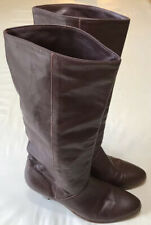 Vintage Frye Boots Size 7 M Leather Brick Red Slouch Fold Over Western Retro 80s