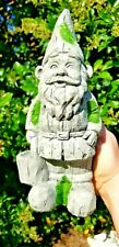 Mossy Gnome TREE BERT with water pale garden home decor handmade pop ART Statue