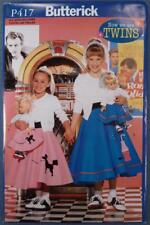 NOS Butterick Costume Pattern P417 1950s Poodle Skirts New Old Stock