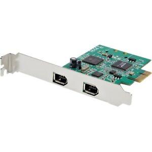 Startech 2 Port 1394a PCI Express FireWire Card - TI TSB82AA2 Chipset - Plug-and