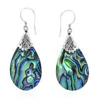 Dangle Drop Earrings 925 Sterling Silver Abalone Shell for Women Gift Jewelry