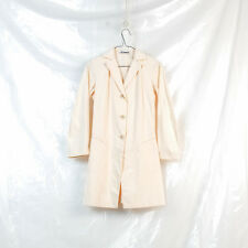 JIL SANDER beige cotton shirting long blazer jacket coat size 34 XS S