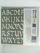 Pochoir lettres Alphabet Chinois tous Supports Planche 15cm Artemio Home Deco