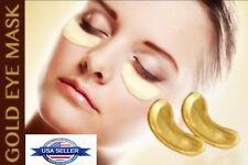 100 Pairs Gold Collagen Gel Eye Pad Anti Aging Dark Circle Wrinkle Pilaten Lot