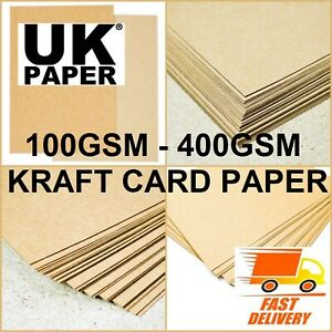 A3 A4 A5 BROWN KRAFT CARD MAKING STOCK BLANKS PAPER CRAFT LOT BOX PLACE GIFT TAG