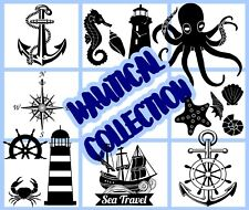 Nautical Maritime Collection Wall Stickers Removable Car Laptop Fridge Decals UK