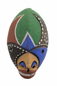 Maschera Passaporto Africano IN Terracotta Masquette Rituale Etnico Tribale 7204
