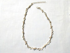 Barb Wire Barbed Wire Twist Chain Necklace 15.5 Inches with 2 Inch Extendender