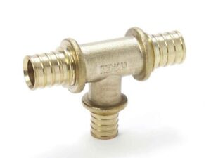 Rehau DR BRASS TEE No.25 Compression Sleeve-40x20x40mm, 40x32x40mm Or 50x20x50mm