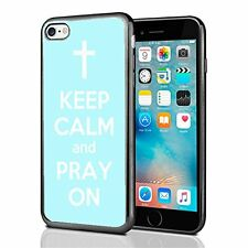 Baby Blue Keep Calm and Pray On For Iphone 7 (2016) & Iphone 8 (2017) Case Cover