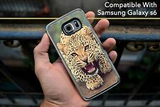 Leopard Awesome Hard Case Fits Samsung Galaxy S6