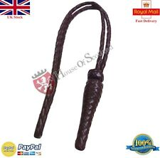 BRITISH RIFLE TANK REGT SWORD KNOT BROWN LEATHER/ARMY/NAVY OFFICER SWORD KNOT