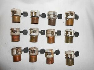 Antique Turn Knobs (F) Lamp Sockets Lot For Chandelier, Lamp Part, Fixture