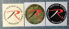 """Rothco - combat gear sticker set of 3, """"Combat tested"""" since 1953"""
