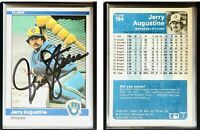 Jerry Augustine Signed 1984 Fleer #194 Card Milwaukee Brewers Auto Autograph