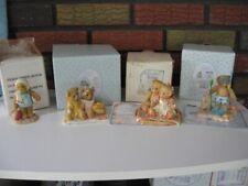 Enesco 4 Cherished Teddies Troy, Nathaniel & Nellie, Janice, Couple ww